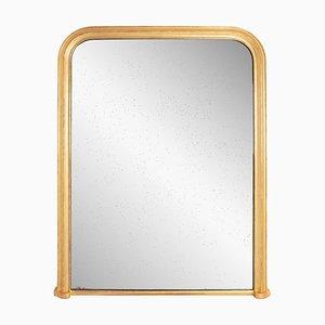 Großer französischer Spiegel mit vergoldetem Rahmen, 1840er
