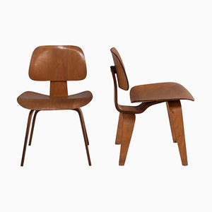 Plywood DCW Dining Chairs by Charles & Ray Eames for Herman Miller, 1950s, Set of 2