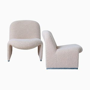Alky Stühle von Piretti mit New Upholstery von Castelli, 2er Set