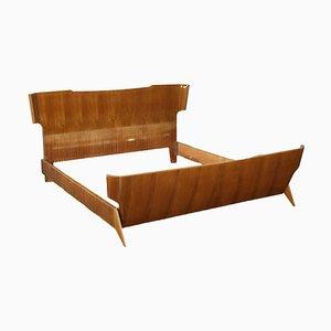 Mahogany Veneer Bed, 1950s