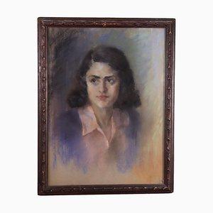 Portrait einer jungen Frau Leinwand