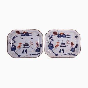 Polylobate Plates in Majolica Ceramic, Set of 2