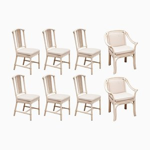 Faux Bamboo Dining Chairs from McGuire, 1980s, Set of 8