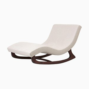 Reupholstered Rocking Chaise in Dedar Fabric by Adrian Pearsall, USA, 1950s