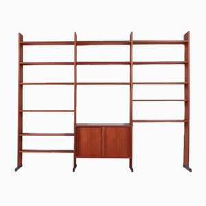 Swedish Modern Teak Modular Bookcase Cabinet, 1960s