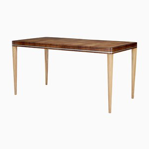 Mid-Century Elm and Mahogany Table by Carl Bergsten