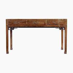 19th Century Chinese Elm Console Table or Sideboard