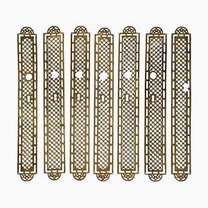 Brass Door Decorations, Set of 7