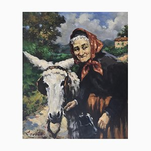 Alberto Cecconi, The Old Woman and Her Donkey, 1962
