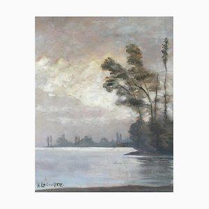 Henri Lecoultre, Landscape Lake, 1952