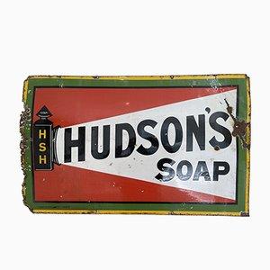 Antikes emailliertes Hudson's Soap Schild