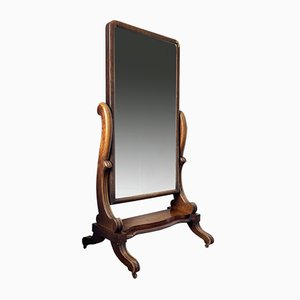 Antique Gentleman's Outfitters Dressing Mirror in Mahogany