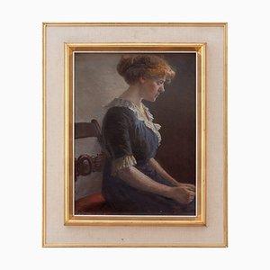 Olaf Simony Jensen, Portrait einer Sitzenden Frau