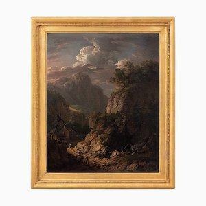 Thomas Barker of Bath, Dark Mountainous Landscape with Figures