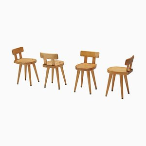 Dining Chair by Charlotte Perriand for Les Arcs, France
