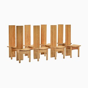 Wooden High-Back Dining Chair by Axel Einar Hjorth