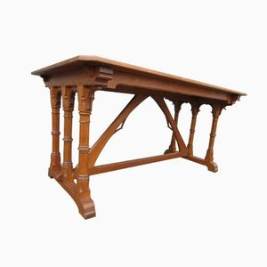 Arts & Crafts Gothic Revival Oak Desk, 1900s
