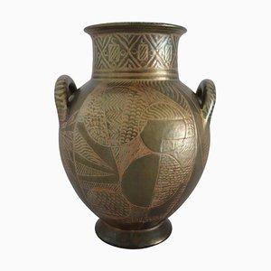 Italian Hand Painted Glazed Ceramic Vase by Riccardo Gatti, 1950s