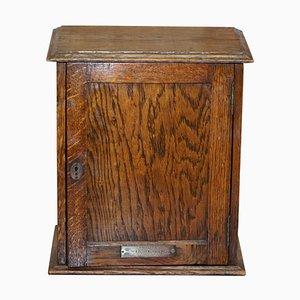 Edwardian English Oakwood Key Box with Plaque from Honley Congregation