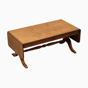 Extending Burr Yew Wood Coffee Table by Bevan Funnell