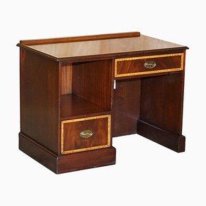 Flamed Hardwood & Walnut Knee Hole Desk by William L Maclean