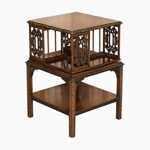 Antique Revolving Bookcase or Library Table from Thomas Chippendale, 1880s