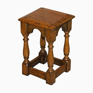 19th Century Antique Oak Jointed Stool or Side Table