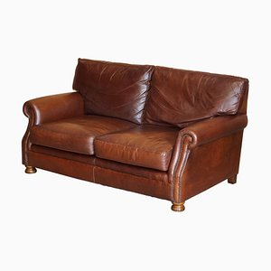 Brown Leather 2-Seater Sofa from Tetrad Prince