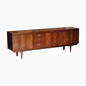 Vintage Sideboard aus Hartholz & Messing von Greaves & Thomas, 1966