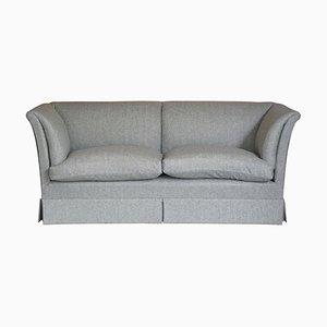 Baring Sofa in Grey Herringbone Wool Upholstery from Howard & Sons