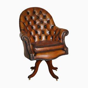 Godfather Cigar Brown Leder Chesterfield Sessel