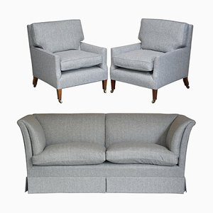 Sofa and Armchairs from Howard & Sons, Set of 3