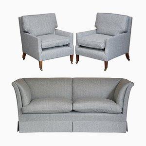 Sofa und Sessel von Howard & Sons, 3er Set
