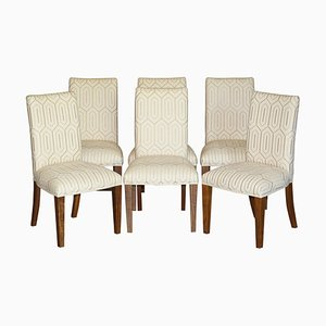 American Walnut Dining Chairs by David Linley, Set of 6