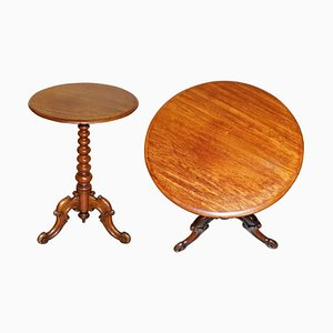 Antique Victorian Fruitwood Bobbin Side Table
