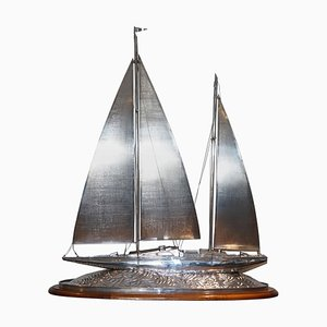 Massive Sterling Silber Segelyacht von Tiffany & Co.