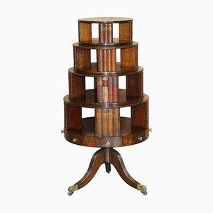 Regency Bücherregal aus Hartholz mit Faux Büchern, 1810er