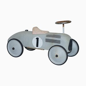 Vintage French Style Children's Racing Car in Metal