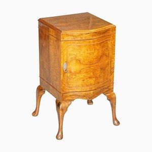 Art Deco Burr Walnut Bedside or Side Table by Maurice Adams