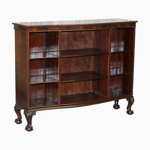 Serpentine Fronted Library Bookcase with Claw & Ball Feet from Gardner & Son, 1840s