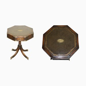 Regency Style Revolving Military Campaign Drum Table