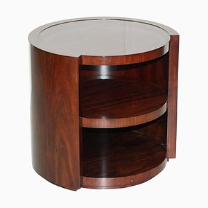 American Hardwood Drum Table with Shelves from Ralph Lauren