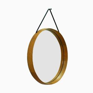 Specchio in quercia massiccia di Uno & Östen Kristiansson per Luxus, Svezia, anni '60