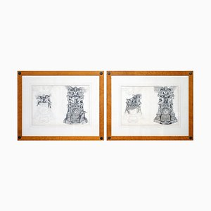 Large Copper Plate Prints by Pierre Mignard, 1660s, Set of 2