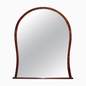 Großer chinesischer rot lackierter Chinoiserie Spiegel