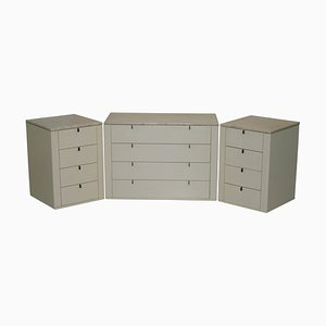 German Marble Topped Chest of and Bedside Drawers from Interlubke, Set of 3