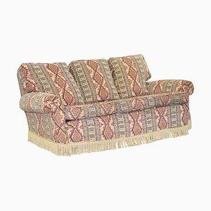 Mid-Century Art Deco Style Kilim Rug Upholstered Sofa