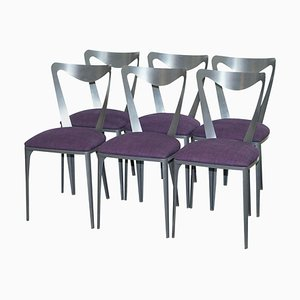 Tiffany Chairs with Sculptural Lines & Anodized Steel by Tom Faulkner, Set of 6