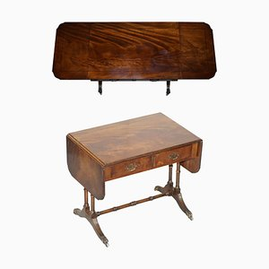 Large Extending Flamed Hardwood Side or Card Table with Lion Feet from Bevan Funnell