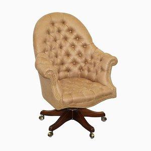 Hardwood Chesterfield Captain's Directors Armchair